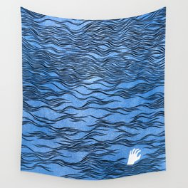 Man & Nature - The Dangerous Sea Wall Tapestry