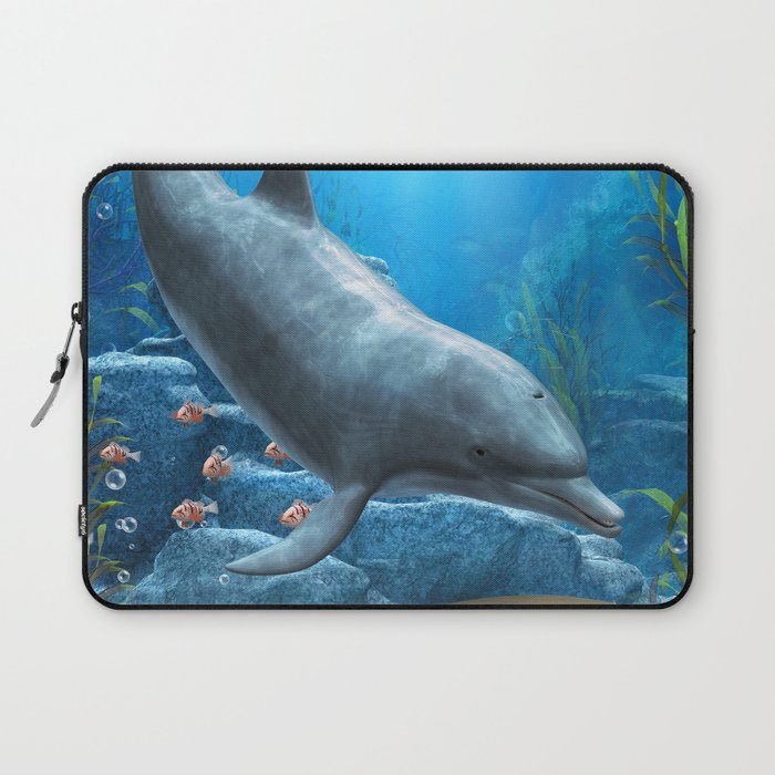 The World Of The Dolphin Laptop Sleeve