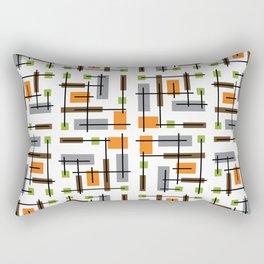 Mid Century Modern Geometric Pattern Rectangular Pillow