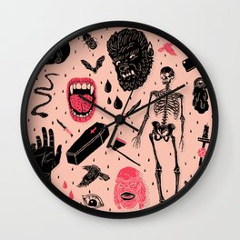 Whole Lotta Horror Wall Clock
