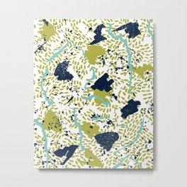 Trenton - modern minimal abstract painterly palette urban brooklyn cali city beach painting dorm  Metal Print