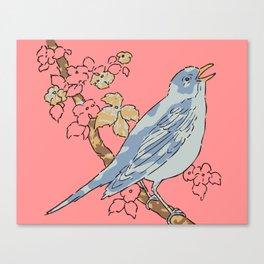 Bird Perch Canvas Print