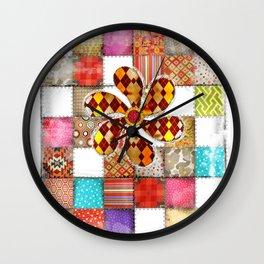 Lady Patchwork (Bulgarian Love) Wall Clock