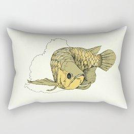 Gold Arowana Rectangular Pillow