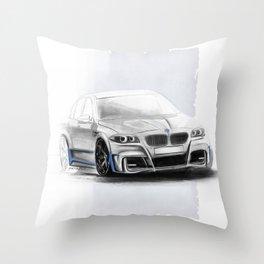 Bavarian car M5 F10 Artrace body-kit Throw Pillow