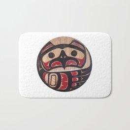 Northwest Pasific American Native Totem In Cut In Wood No. 5 Bath Mat