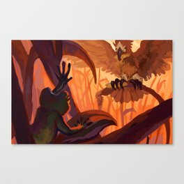 Jerome and Bird Canvas Print