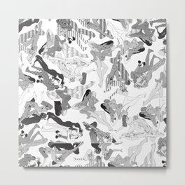 Wild Lines Metal Print