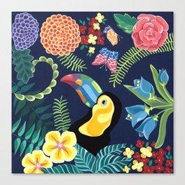 Natures Confetti Toucan Canvas Print