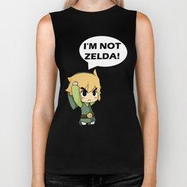 I'm not Zelda! (link from legend of zelda) Biker Tank