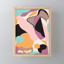 Minimal abstract shapes Framed Mini Art Print
