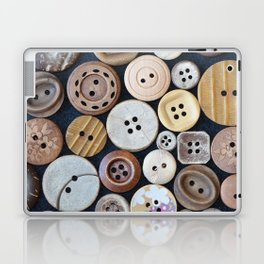 Wooden Buttons Laptop & iPad Skin