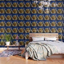 King Tut and Pyramid Wallpaper
