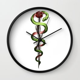 Rod of Asclepius Wall Clock