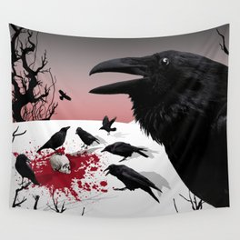 """""""Murder!"""" She Crowed Wall Tapestry"""