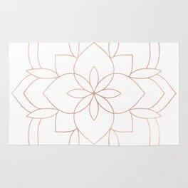 Mandala Rose Gold Pink Art Deco Rug