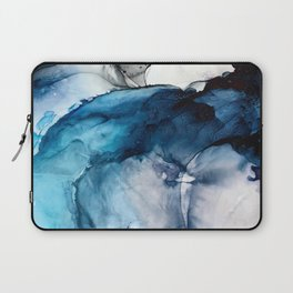 White Sand Blue Sea - Alcohol Ink Painting Laptop Sleeve