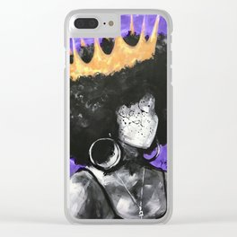 Naturally Queen II PURPLE Clear iPhone Case
