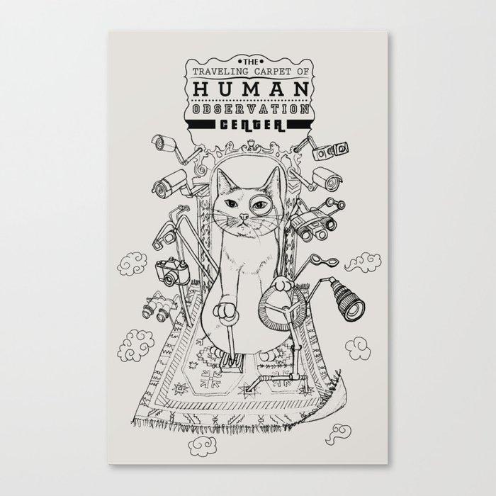 Traveling Carpet of Human Observation Center Canvas Print