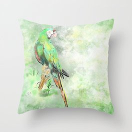 La Gran Lapa Verde Throw Pillow