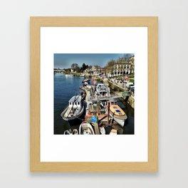 boats on the Thames Framed Art Print