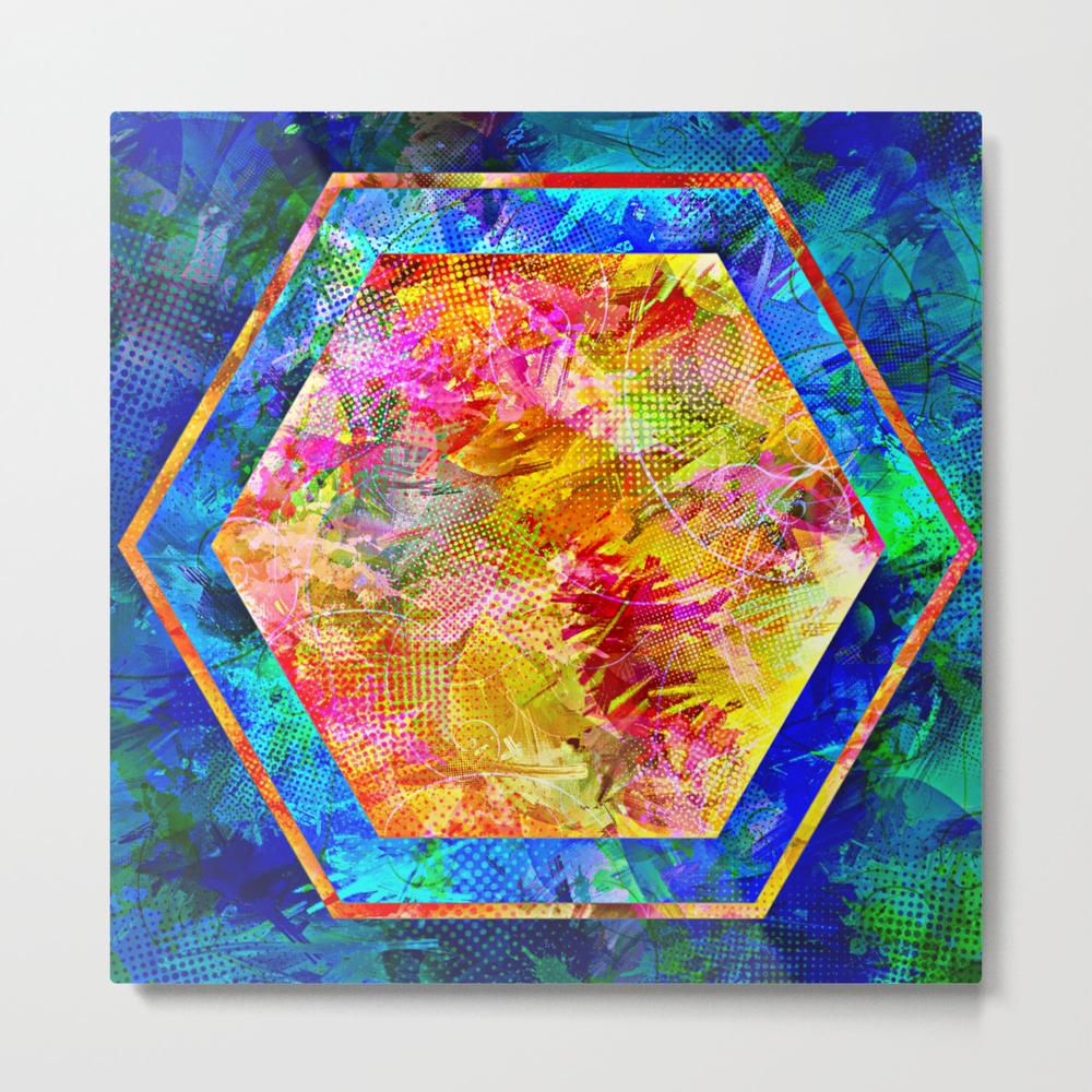 Hexagon In Complementary Colors Metal Print by Danaroper MTP9003343