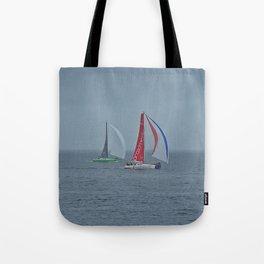 part 3 of 4 of Sailing Battle 42-56  - Transat Quebec St-Malo Tote Bag