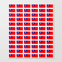 flag of taiwan -formosa,taipei,formosan,Taiwanese,hakka,matsu,台湾,臺灣. Canvas Print