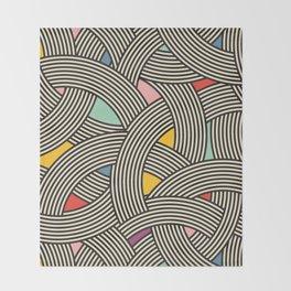 Modern Scandinavian Multi Colour Color Curve Graphic Throw Blanket