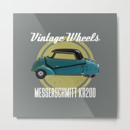 Vintage Wheels - Messerschmitt kr200 Metal Print