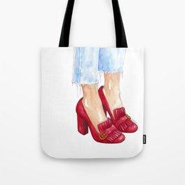 Red Heels Tote Bag