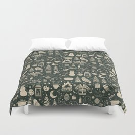 Winter Nights: Forest Duvet Cover