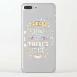 It goes -ding- when there's stuff! Clear iPhone Case