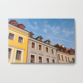 Tenement houses with attic in Lublin Metal Print