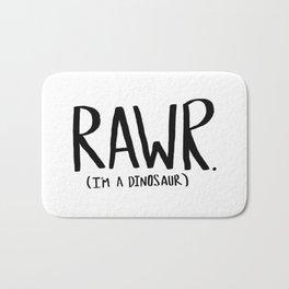 Rawr. I'm a Dinosaur Bath Mat
