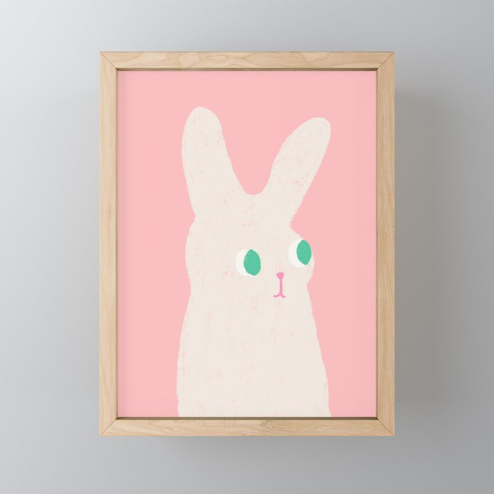 Bunny x Pink Framed Mini Art Print