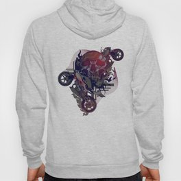 Until One of Us Starts Raving - Skull and Motorbikes Hoody