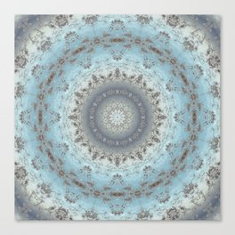 Gray blue kaleidoscope Canvas Print