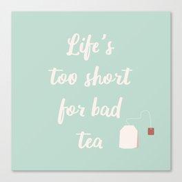 The Tea Lover II Canvas Print