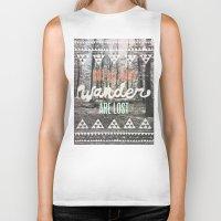 urban Biker Tanks featuring Wander by Wesley Bird