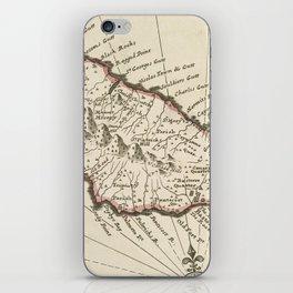 Vintage Map of Saint Kitts (1732) iPhone Skin