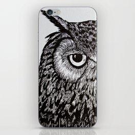 Black&White Owl iPhone Skin
