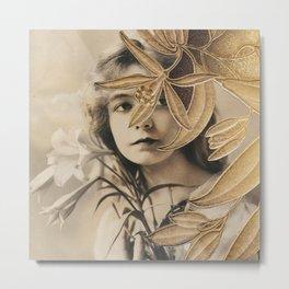 The Gilded Lillian Metal Print