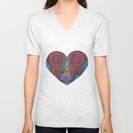 Heart Totem Unisex V-Neck