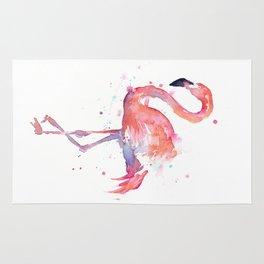 Flamingo Watercolor Rug
