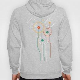 Geometric dandelion flower print  Hoody