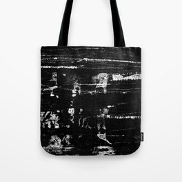 Distressed Grunge 102 in B&W Tote Bag