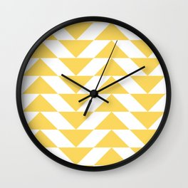 Yellow Triangle Wall Clock