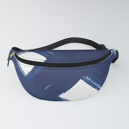 Indigo Abstract Brush Strokes | No. 3 Fanny Pack