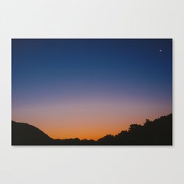 Orange to blue Canvas Print